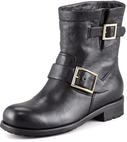 Jimmy Choo - Youth Buckled Biker Boots