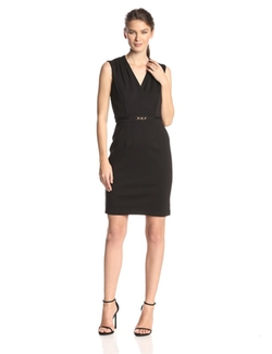 Ellen Tracy - Sleeveless V-Neck Sheath Dress