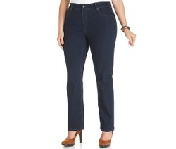 Jones New York  - Signature Plus Size Lexington Straight-Leg Jeans