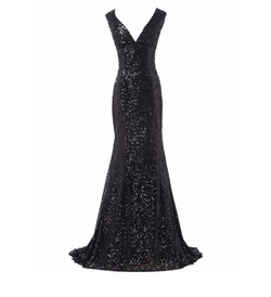 Belle House - Sequins Deep Evening Gown
