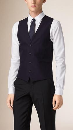 Burberry - Slim Fit Wool Waistcoat