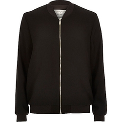 River Island - Black Bomber Jacket