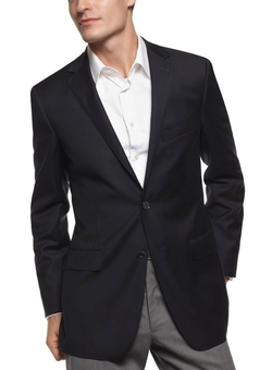 DKNY - Mens Navy Blue Wool Sportcoat