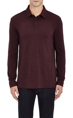 Z Zegna  - Long-Sleeve Polo Shirt