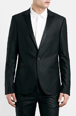 Topman  - Ultra Skinny Black Tuxedo Jacket