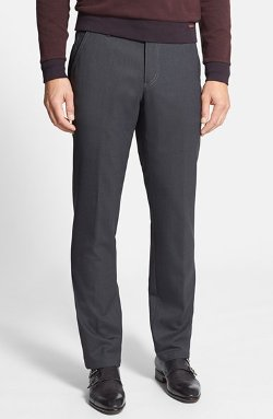 Hugo Boss - Gustaf Flat Front Wool Blend Trousers