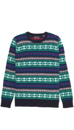 Scotch & Soda  - Crew Neck Intarsia Sweater