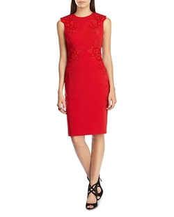 Karen Millen - Velvet Appliqué Dress