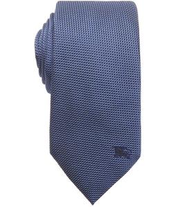 Burberry London - Marine Blue Birds Eye Print Silk Tie