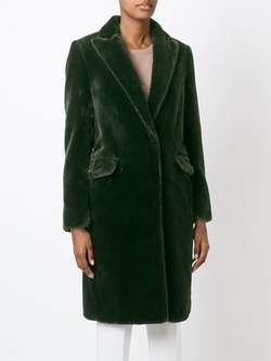 Msgm - Single Breasted Midi Coat