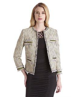 Catherine Malandrino - Tweed Jacket with Zippers