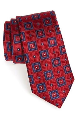 Nordstrom - Geometric Medallion Silk Tie
