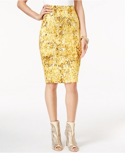 Thalia Sodi - Printed Scuba Pencil Skirt