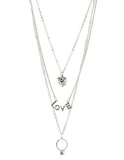 Charlotte Russe - Mix Charm Dangles Necklace