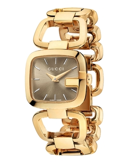 Gucci  - Small Gold Square Bracelet Watch