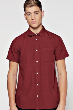 Boohooman  - Short Sleeve Slim Fit Poplin Shirt