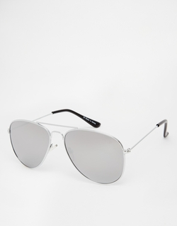 Asos - Aviator Sunglasses With Mirrored Lens