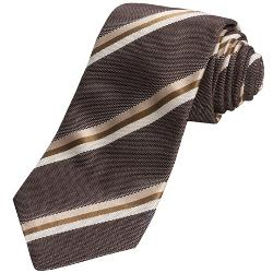 John Varvatos Star USA  - Double-Stripe Silk Tie