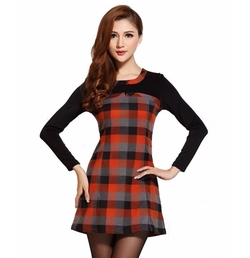Beautifulmall - Tartan Plaid Dress