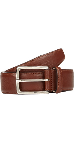 Barneys New York  - Saffiano Leather Belt