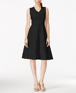 NY Collection - Seamed Fit & Flare Dress