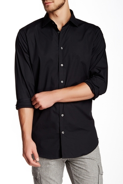 14th & Union  - Long Sleeve Trim Fit Solid Dress Shirt