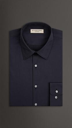 Burberry - Slim Fit Stretch Cotton Blend Shirt