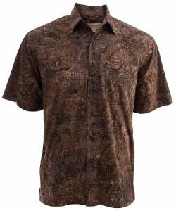 Johari West  - Walnut Leaf Tropical Cotton Shirt