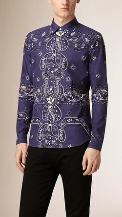 Burberry - Bohemian Print Cotton Shirt