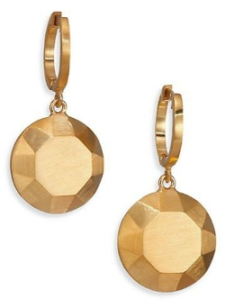 IAM by Ileana Makri  - Round Gem Drop Earrings