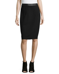 Carmen Carmen Marc Valvo - Ponte Pencil Skirt