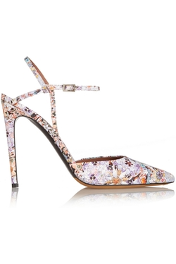 Tabitha Simmons  - Valentina Floral Print Leather Pumps