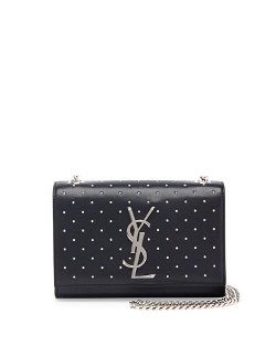 Saint Laurent	  - Monogramme Studded Crossbody Bag