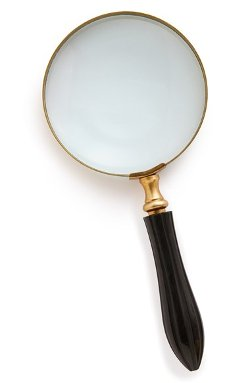 Import Collection  - Carved Horn Magnifying Glass