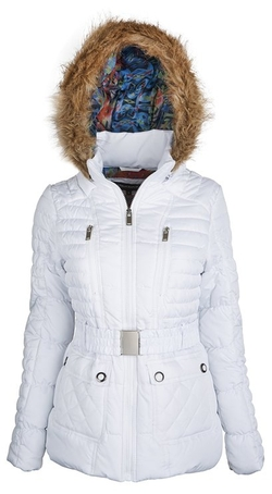 Urban Republic  - Womens Faux Down Belted Puffer Bubble Coat