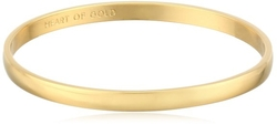 Kate Spade New York  - Idiom Collection Heart of Gold Bangle Bracelet