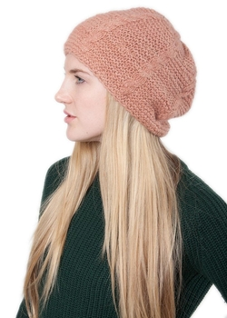 Likemary - Merino Angora Cable Knitted Wool Hat