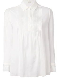 Saint Laurent - Pleated Bib Shirt