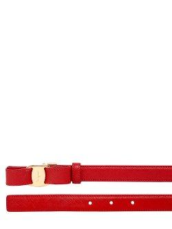Salvatore Ferragamo  - Bow Saffiano Leather Belt