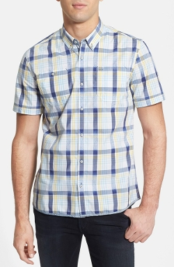 7 Diamonds - Short Sleeve Plaid Woven Shirt