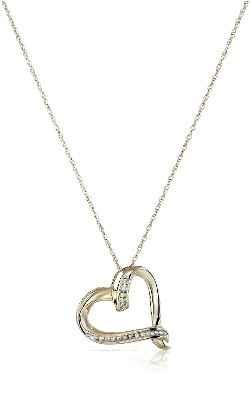 Amazon Collection - Diamond Abstract Heart Pendant Necklace