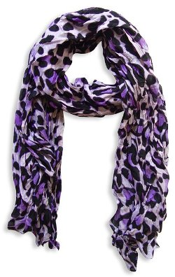 Peach Couture - Animal Print Crinkle Scarf