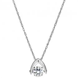 Tengems - Dancing Diamonds Wishbone Pendant Necklace