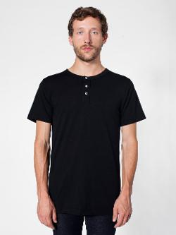 American Apparel - Poly-Cotton Short Sleeve Henley