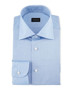 Ermenegildo Zegna - Solid Cotton Dress Shirt
