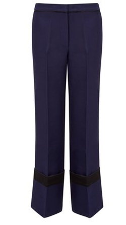 Derek Lam - Navy Wool Deep Cuff Trousers