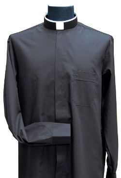 F.C. Ziegler Company - Solivari Roman Collar Black Clergy Shirt