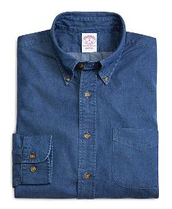 Brooks Brothers - Regular Fit Button-Down Collar Denim Sport Shirt