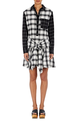 Derek Lam 10 Crosby - Flannel Shirtdress