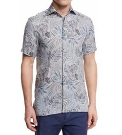 Ermenegildo Zegna - Leaf-Print Short-Sleeve Shirt